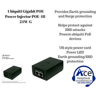 Ubiquiti Gigabit POE Power Injector POE-48-24W-G