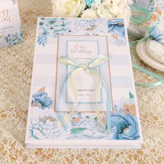 Customizable Guest Book 2017 Watercolor Series Wedding Ceremony Party