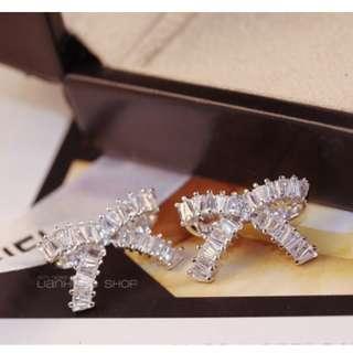 925純銀耳釘鑲嵌人工寶石耳環 出口