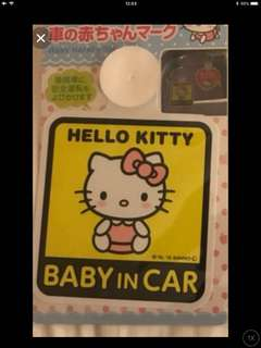 🚚 BN HELLO KITTY BABY ONBOARD SIGN FOR CARS