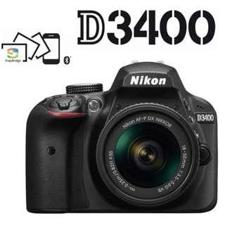 🛒Nikon D3400 DSLR Camera With 18-55mm Lens
