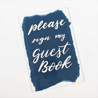 Guest book signage - customizable acrylic back painted