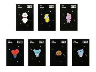 BT21 X Monopoly Official Pin Badge