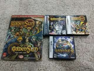 Original Nintendo Golden Sun Gameboy Advance DS Games