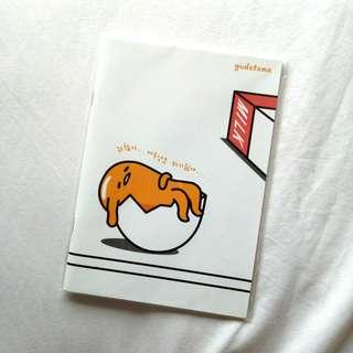 sanrio gudetama notebook