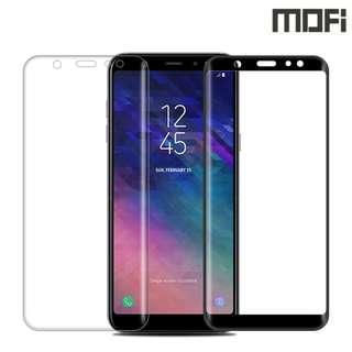 Galaxy A6 Plus 2018 SM-A6050 MOFI 3D曲面鋼化玻璃膜 全屏覆蓋強化玻璃貼 0771A
