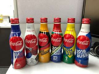 Limited Edition Fifa World Cup Coca Cola Bottles