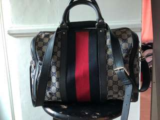 REPRICED: GUCCI canvas speedy type bag