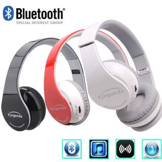 niceEshop Wireless Bluetooth Foldable Stereo Headset (white/blue white/black red/black)