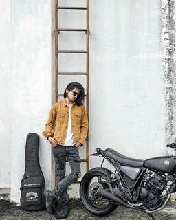 Jacket/jaket jeans 140z brown/coklat model fit (bukan levis)