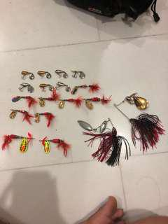 Spinnerbaits and TOMAN lures
