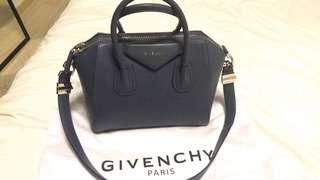 Givenchy antigona small in shade of blue
