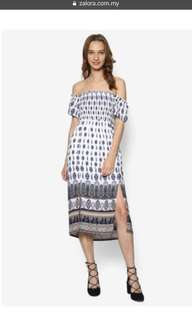 Zalora off shoulder boho dresses