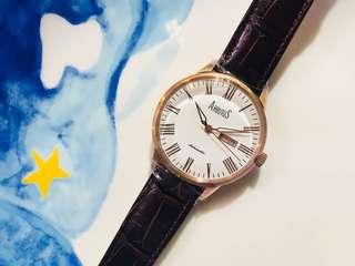 ARBUTUS New York 愛彼特🧚🏻♀️😇 深啡錶帶 日歷 星期 自動錶 上鏈錶  文青feel 👩🏻💼 斯文 優雅風
