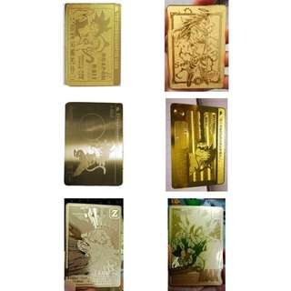 龍珠自制金卡,硬身,一套6張 (7月15日到貨)