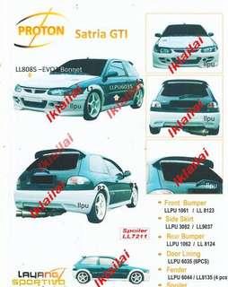 Satria Gti convert bodykit full