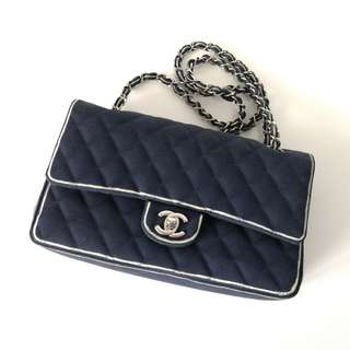 Authentic Chanel Classic Medium Denim Flap Bag