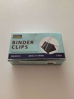 12 pcs of binder clip