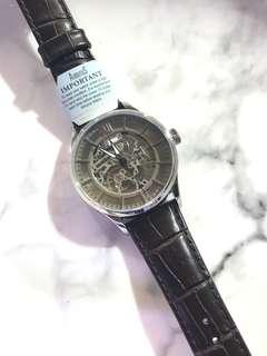 ARBUTUS New York 愛彼特🧚🏻♀️😇 自動錶 上鏈錶 灰色面深棕色錶帶