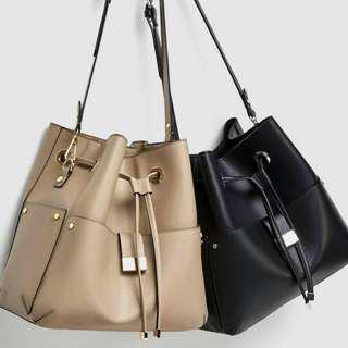 Original Zara Bucket Plated Sling Bag