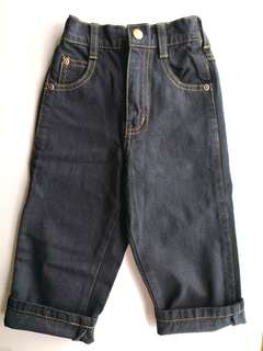 NEW Toddler Baby Boy Black Denim Jeans