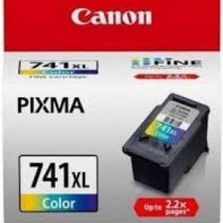 New Canon PIXMA 741XL color printer ink cartridge