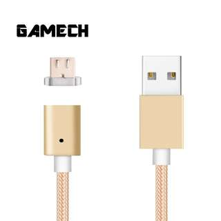 Gamech 5th Gen Fast Magnetic Charger and Data Nylon Cable Micro-USB Android