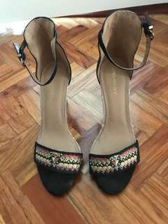 Suiteblanco ankle strap heels