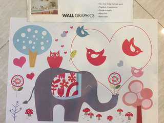 Wall graphic stickers - Elephant & wonderland
