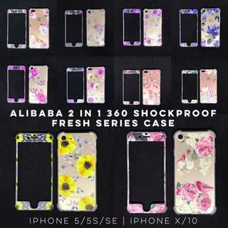 Alibaba 2 in 1 360 Shockproof case for Iphone 7 8 7+ 8+ Plus X 10 Samsung S8 S8+