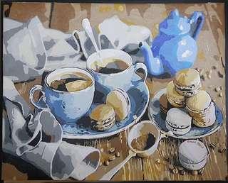 After High Tea- Canvas(unframe) Painted art