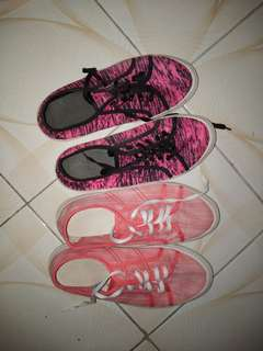 Shoes Pink and Black