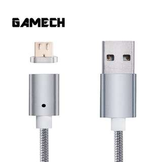 Gamech 5th Gen Fast Magnetic Charger and Data Sync Nylon Cable for iOS