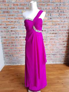 Purple Jewellery Evening Dress