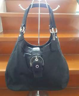 Authentic Coach F10792 Black Leather Hobo