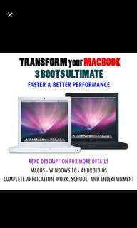 MacBook iMac Boot camp Windows & Android