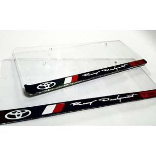 TRD Racing Development License Plate Cover