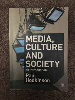 Media, culture and society 2nd edition