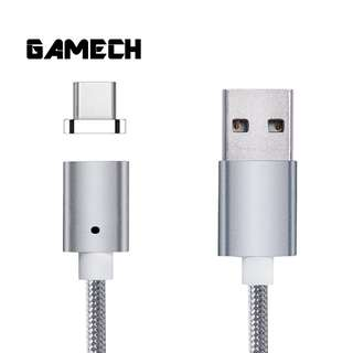 Gamech 5th Gen Fast Magnetic Charger and Data Sync Nylon Cable for Type-C