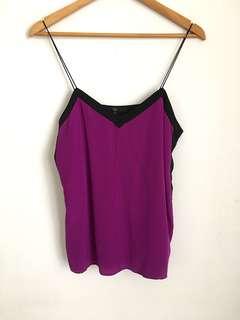 Tibi Silk Purple Camisole