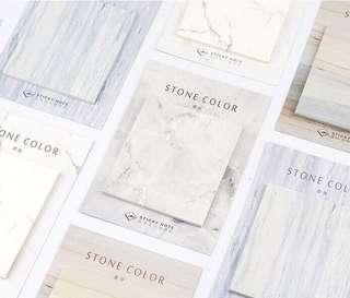 Marble stone color square minimalist memo pad sticky note