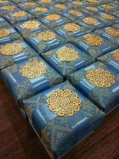 Recent Orders ! Songket Exclusive VVIP Gift Boxes & Pouches *100% handmade*