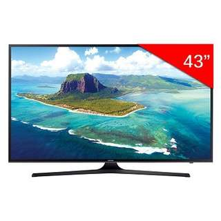 "Samsung UA43KU6000 43"" UHD 4K Flat Smart TV - Looks brand new , Available September 2 Years left on Samsung Warranty"