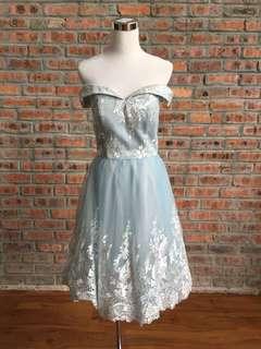 Chi Chi London Sky Blue Short Dress