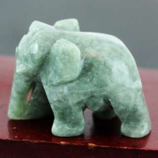 Natural Jadeite (A Jade) Elephant Carving. Thumb Size. Cute Suitable for Office/Home Personal Display. Feng Shui Elephant.