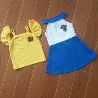Bundle: Cold Shoulder Top & Halter Dress