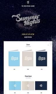 (PRE ORDER) TWICE - Special Album Vol.2 'SUMMER NIGHTS'