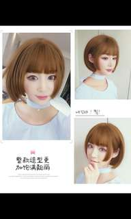 Preorder korean short bobo daily wig/cosplay wig * waiting time 15 days after payment is made * chat to buy to order