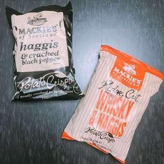 $45@2包 - Mackies of Scotland 經典薯片 - 黑椒 / 威士忌