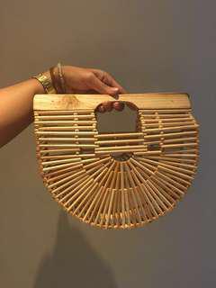 Readystock Bamboo cage bag
